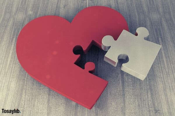 heart puzzle joining together