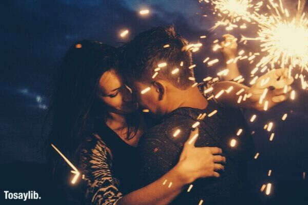 night love happiness tenderness kiss sparklers sparklers holding sparklers