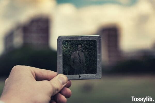 guy smiling mini picture frame