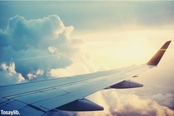sun sky plane wing