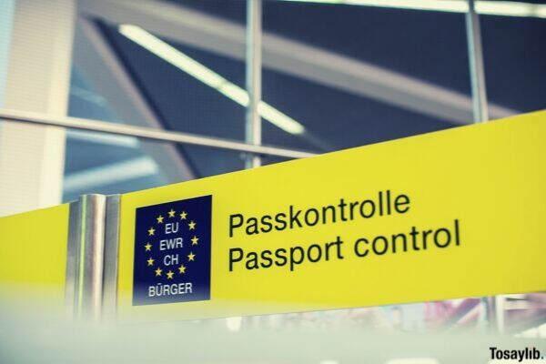 passport control signage
