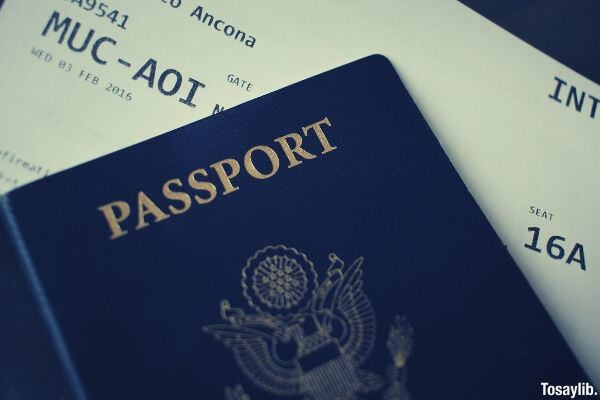 passport plane ticket