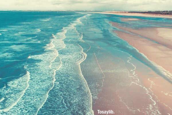 blue seaside beach
