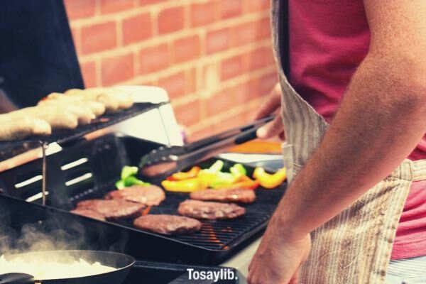dinner grill burger patty