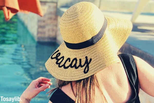 woman suit black photo summer hat