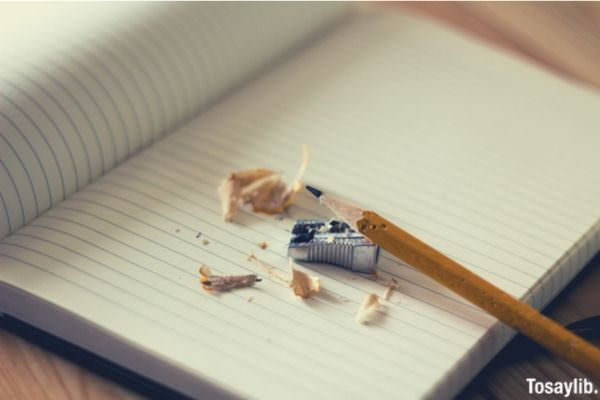 sharpener pencil notebook