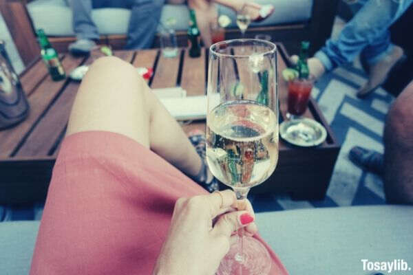hotel bar champagne friends bubbles cheers bubbly
