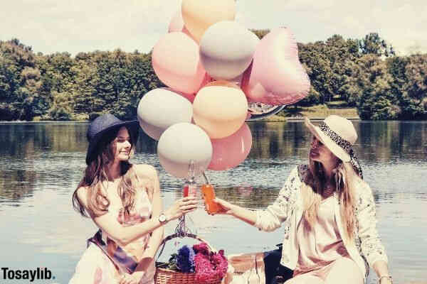 nature colorful friendship blossom party balloons summertime