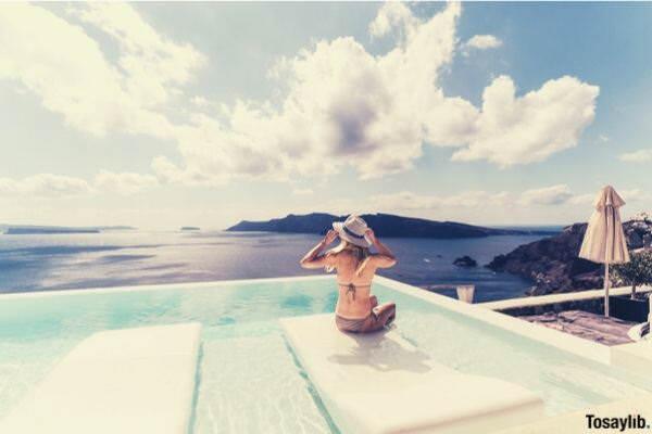 woman swimming pool jacuzzi