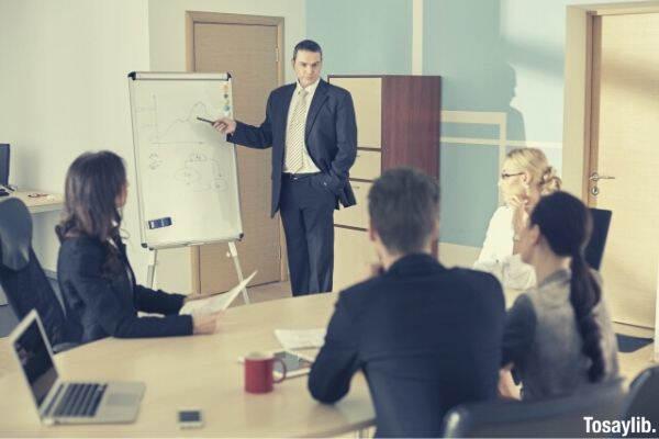 foreign businessman meeting teaching
