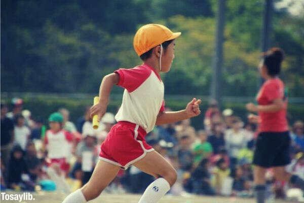 student running kindergarten