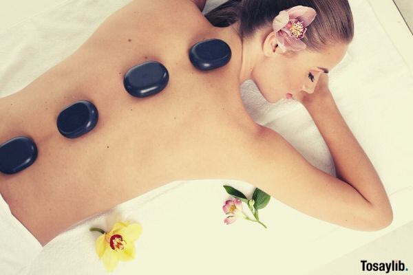 female massage stone spa