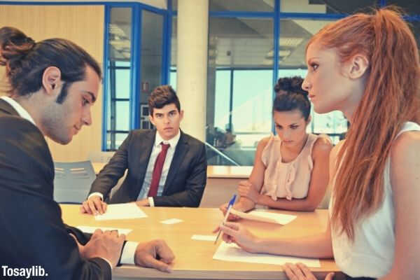 woman red hair angry meeting