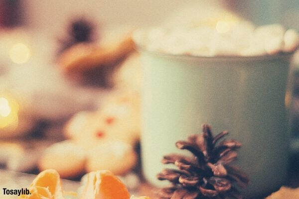 cup green orange christmas