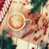 coffee-almonds-lace-christmas-leaves-red-scarf