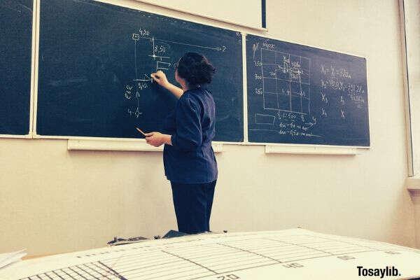 teacher at the blackboard