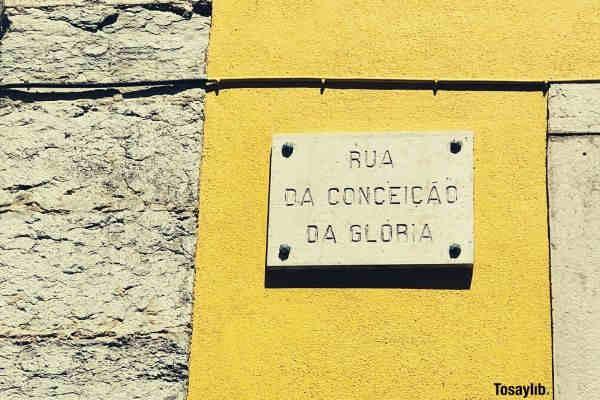 rua da conceicao da gloria signage