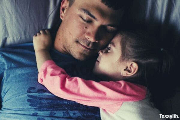snuggle dad little girl pillow