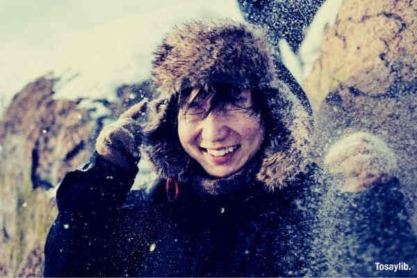 portrait winter travel cold snow season smile outdoor friend amazing