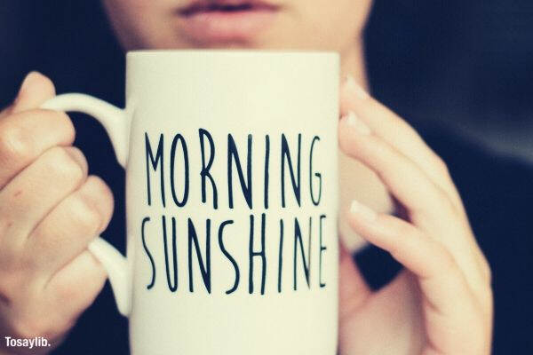 drink morning breakfast coffee sunshine hands mug tea quote early morning person