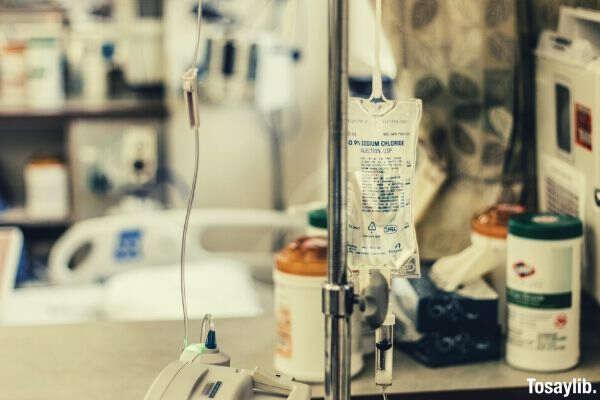 IV stand focus blur background