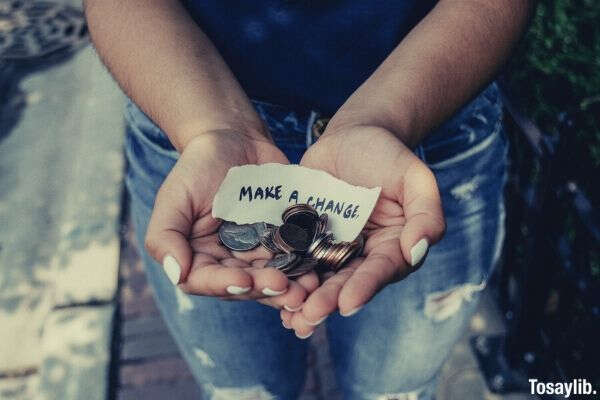 make a change coins on hand
