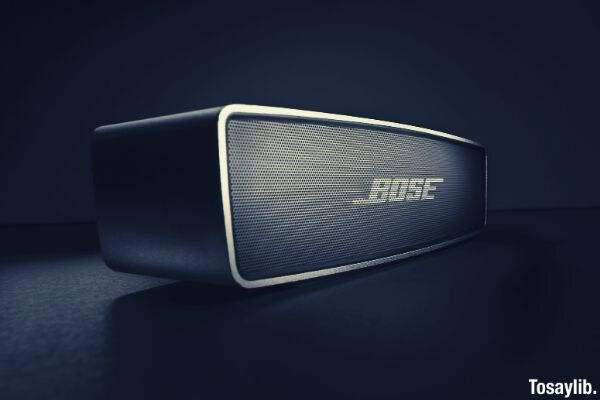 black bose photo speaker
