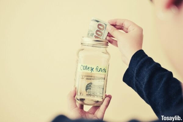 college funds in jar