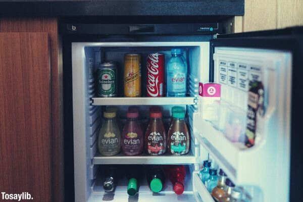 open black fridge