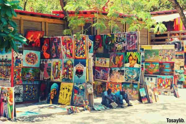 vibrant color island crafts artwork paintings pastel colors artisan watercolor paintings