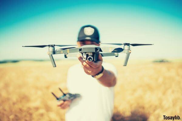 drone quadcopter shallow focus