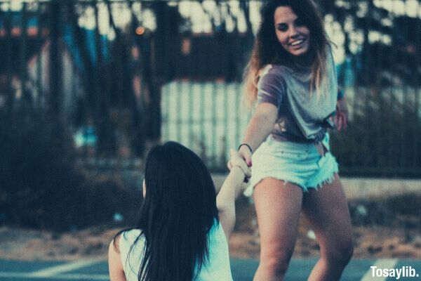 photo of two women having fun