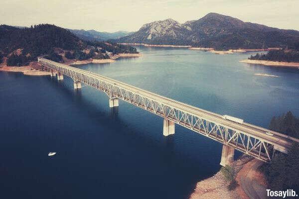 brown bridge body of water