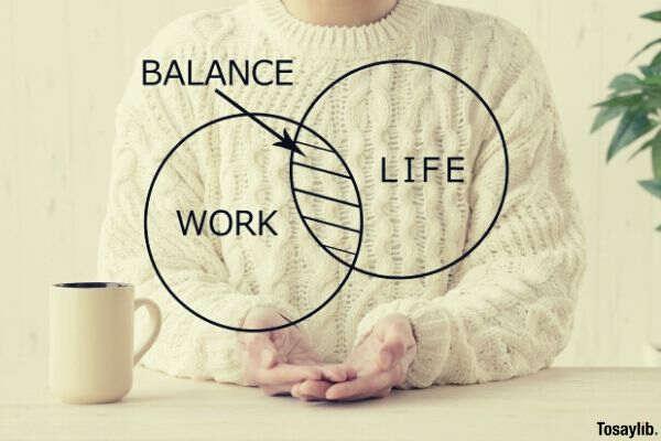 work life balance woman sweater