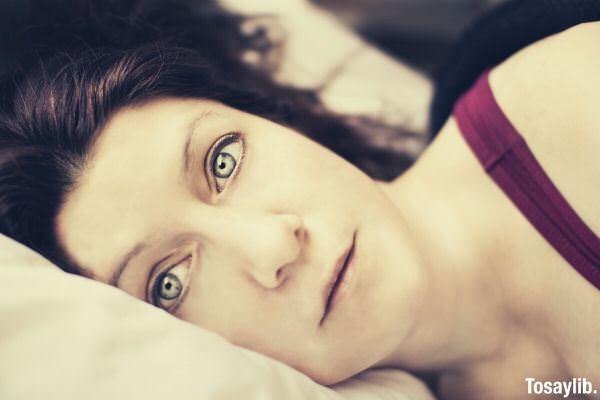 01 woman gray eyes lying