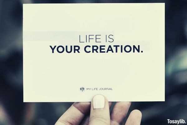 07 life is your creation card