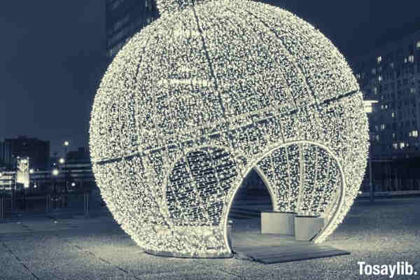 black and white christmas decoration