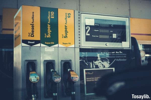 photo of gasoline dispenser station