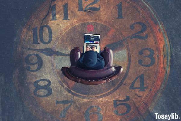 brown analog clock photo man sitting