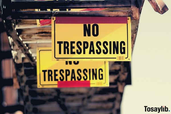 no trespassing signboard