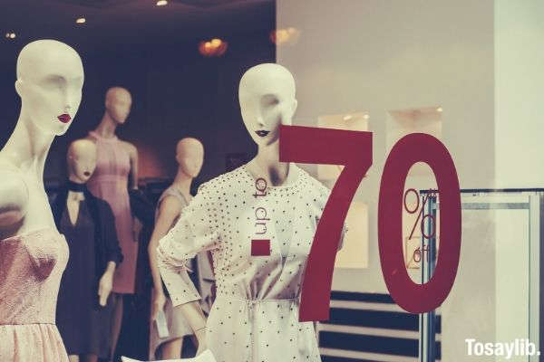 white and pink dressed maniquin