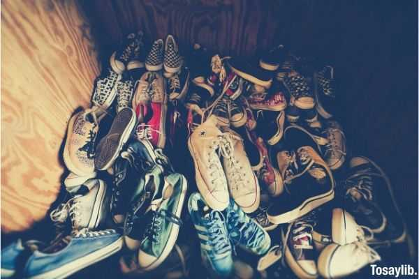 photography of assorted color shoes