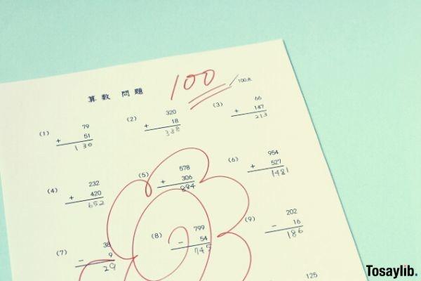 perfect score answer sheet