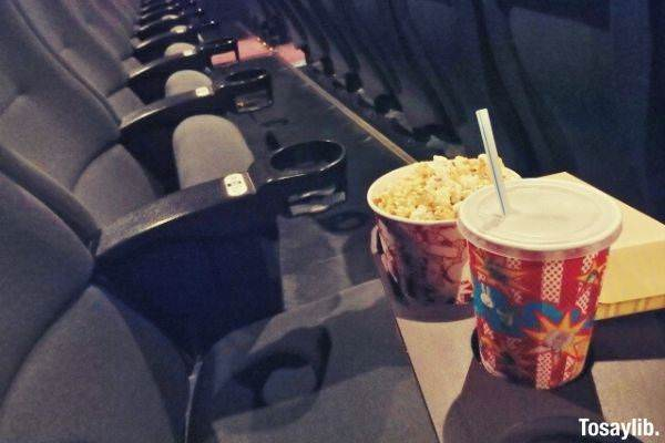movie theater seats popcorn