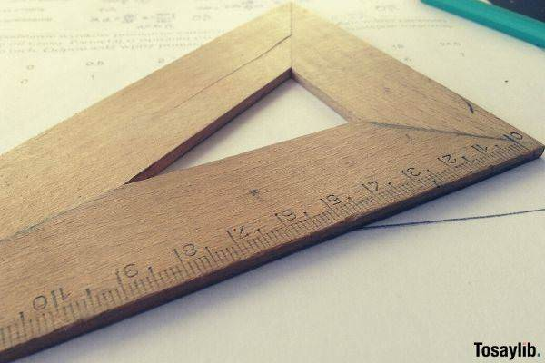 pencil wooden measuring tool