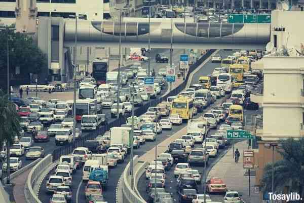 Photo of vehicles on road at daytime selective photo traffic jam
