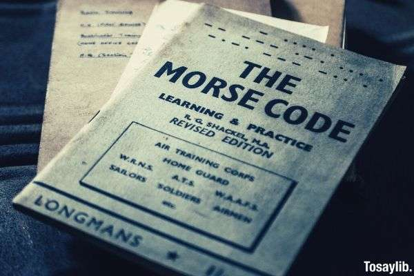 pamphlet photo the morse code book