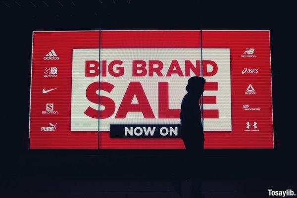 Big advertisement display big brand sale neon signage