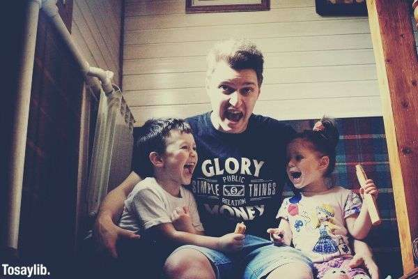 joy family son children daughter funny father kids laughing