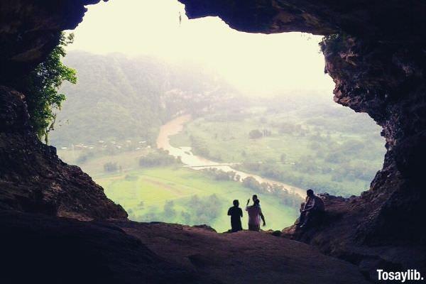 four people on cueva ventana arecibo puerto rico